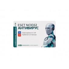 Антивирус Eset NOD 32 Антивирус подписка карточка на 1 год на 3 ПК или продление на 20мес.