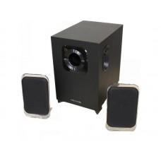 Колонки, Microlab, M-113, 2.1, 2.1, 24Вт (7Вт*2+10Вт), Выход/Вход 3,5 MiniJack, Проводной пульт ДУ, Чёрный